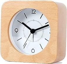 木製の目覚まし時計スクエアミュートナイトライトシンプルで美しいモダンなスヌーズ多機能ファッションベッドクリエイティブパーソナリティホーム2色オプション10CM * 10CM * 4.8CM CHENGYI (Color : Wood color)