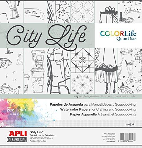 Apli kids 14637 180 g/m² City Life Scrap Booking Carte (Lot de 6)
