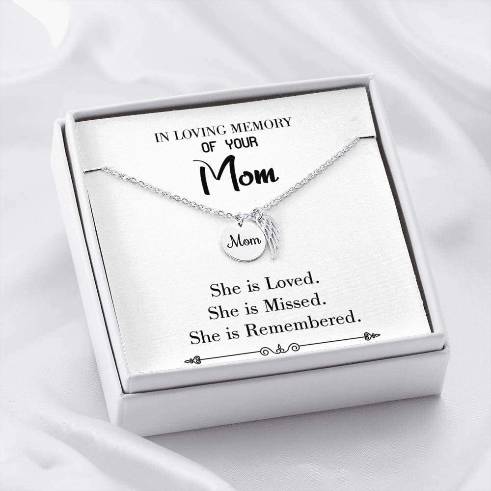 Mom Remembrance Necklace You are Loved White Mother Memorial Necklace