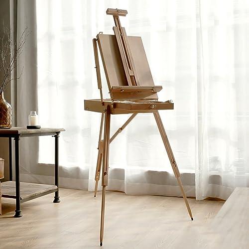 comprar descuentos Easels A Caja de Herramientas Herramientas Herramientas de Pintura de Caballete portátil de Madera Maciza Arte Junto a la Cama Pintura al óleo Marco Caballete Pintura (Color  2)  hasta 42% de descuento