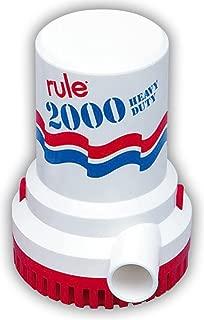 Rule Marine Bilge Pump, 2000 Gallon Per Hour, Non-Automatic