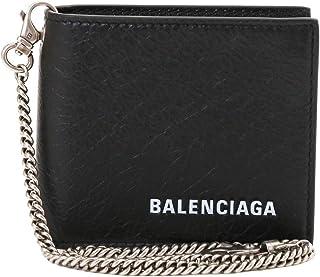 [バレンシアガ] 2つ折り財布 メンズ BALENCIAGA チェーン付き ロゴ入り 504934 DB505 1000 ブラック [並行輸入品]
