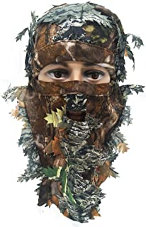isilky Ghillie Camouflage Face Mask - Hunting Accessories...