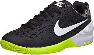 finest selection a36ae f2d2a Nike Zoom Cage 2 Black White Volt Women s Tennis Shoes
