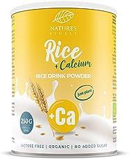 Nature's Finest Bebida de arroz con calcio Bio 250g.| Se obtienen 2,5 l de deliciosa leche vegetal orgánica | Vegetariana y vegana.