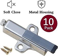 Soft Close Cabinet Hardware Jiayi 10 Pack Metal Soft Close Damper for Cabinet Doors Adjustable Strength Soft Closing Adapter Kitchen Cabinet Door Damper System