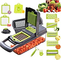 Vegetable Chopper,BRITOR Onion Chopper Mandoline Slicer Cutter Chopper and Grater Vegetable Slicer Potato Veggie Chopper...