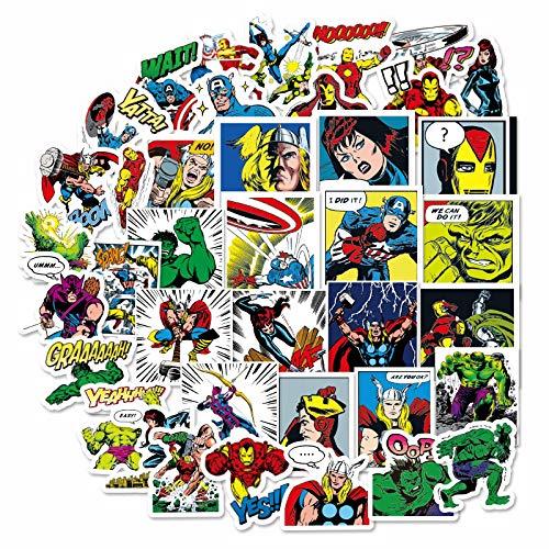 HHSM Mini-Repo League-Aufkleber, Stahl, Death Row, Avengers, United Servant, Lee Iron Man, für Handy, Computer, Notebook, Handbuch, 40 Stück