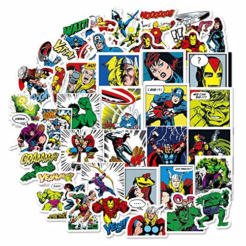 HHSM 40 pegatinas de acero de la liga de Repo Vengadores United, sirviente Lee Iron Man, pegatinas de caja para ordenadores móviles, cuadernos manuales, 40 unidades