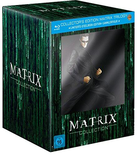 Matrix Trilogie (Collector's Edition inkl. Steelbook und Sammlerfigur) (exklusiv bei Amazon.de) [Blu-ray] [Limited Edition]