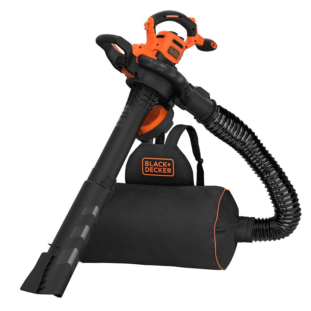 Black+Decker BEBLV301-QS - Aspirador, soplador, triturador de hojas con cable, 3000 W, volumen de aspiración: 15 m3/min, capacidad: 72 L-2 tubos, raspador extraíble, manguera flexible y mochila de 72 l: Amazon.es: Bricolaje
