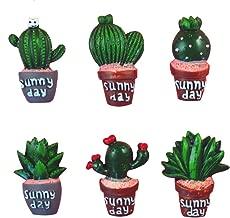 XUNHUI - Juego de 6 piezas de resina de cabujón para manualidades, diseño de cactus