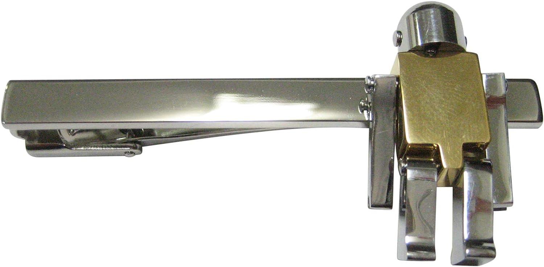 Kiola Designs Gold Chrome Robot Square Tie Clip