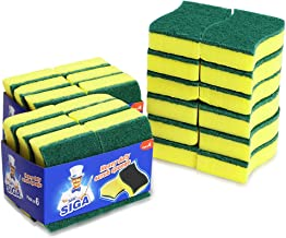 MR. SIGA Heavy Duty Scrub Sponge, Size: 11 x 7 x 3cm - Pack of 24