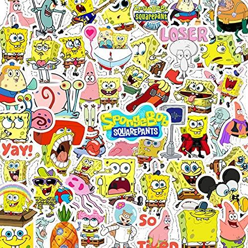 FoxYaye Spongebob Squarepants Stickers - Waterproof Durable Reusable Vinyl Decals Squidward Patrick Plankton , 10 , 20 , 50 , 100 Water Bottle Bike Bumper Luggage Skateboard Graffiti, Best Gift for Kids or Children (20)