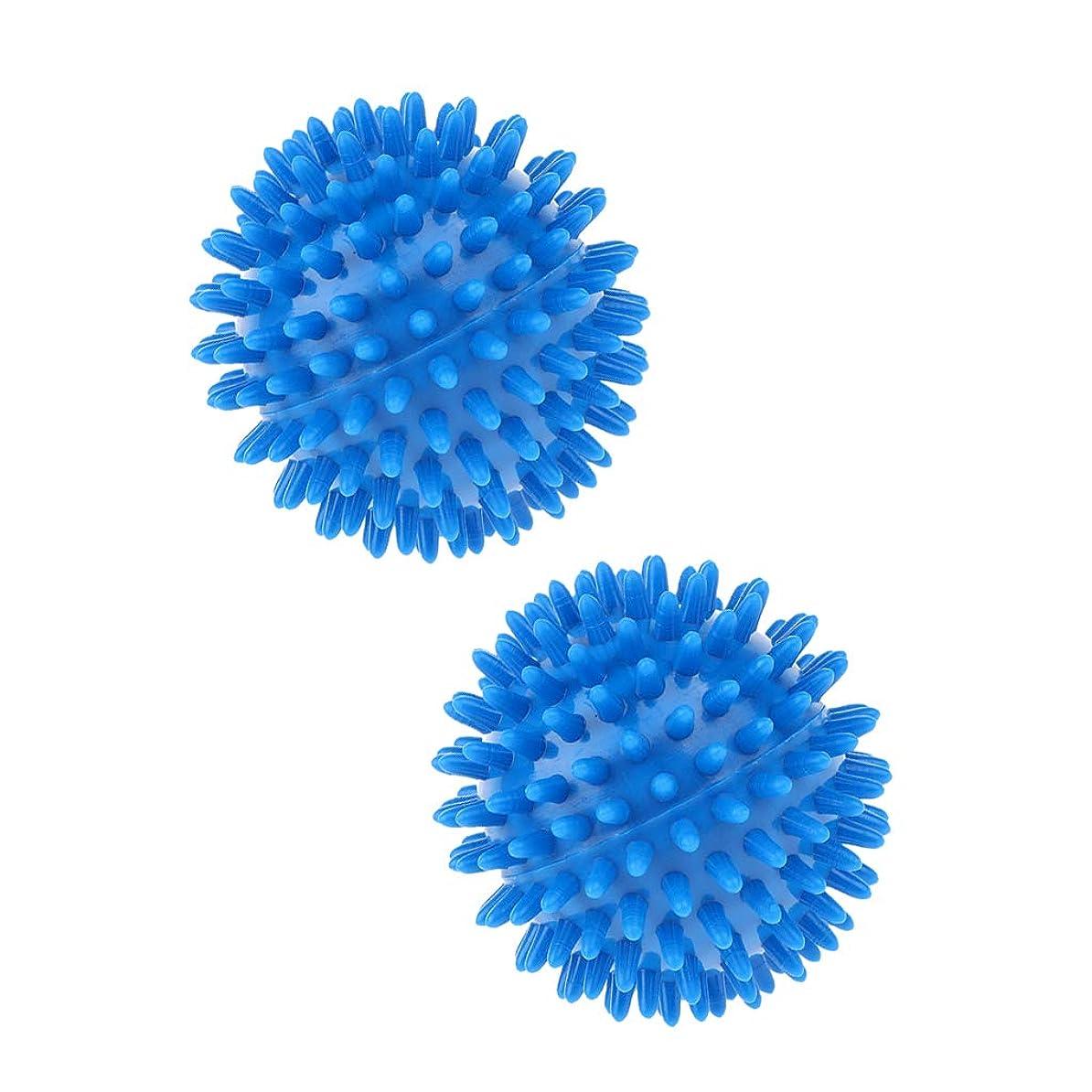 不器用貨物更新Fenteer 2個 マッサージボール スパイキック トリガーポイント 5色選べ - 青