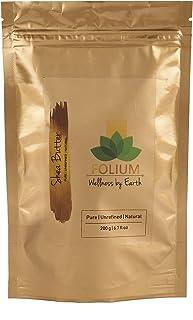 FOLIUM Organic Raw Shea Butter|100% Natural Moisturizer for Body, Skin, Hair & Lips| 200gm