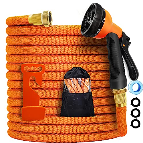 Garden Hose Expandable -25ft Expandable Hose, Leakproof Lightweight Expanding Garden Water Hose 3-Layers Latex,Best Choice for Watering and Washing