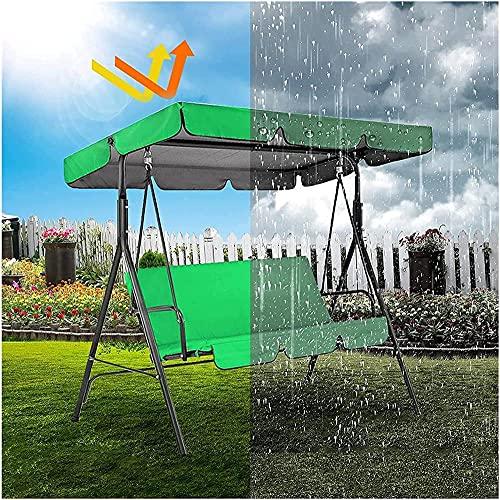 MAIGOU Sillón Columpio Asiento/toldo Reemplazo 3/2 plazas Toldo de jardín Juego de Fundas para sillón Columpio Universal 210D Impermeable Resistente a los Rayos UV Paño Oxford Recubierto de plata-249