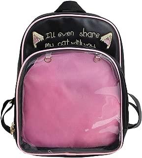 Ita Backpacks Girls Cute Backpack Cat Ears Print Daypack Ladies Summer Beach Bag