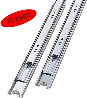 Mondaufie 10 Pair of 18 Inch Full Extension Drawer Slides,Side Mount Ball Bearing Sliding Available in 14