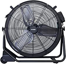 "XPOWER FD-650DC 24"" Drum Fan for – Warehouses, Workshops, Garages, Gyms, Barns, Restaurants, Auto Shops, Houses and Bedrooms- Black"