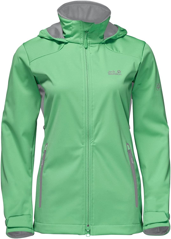 (Spring Green, S)  Jack Wolfskin Womens Ladies Cusco Valley Windproof Showerproof Jacket
