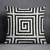 Bonamaison, Fundas de almohadones Decorativos, Funda de cojín, Poliéster y algodón, 45x45 cm - diseñado y Fabricado en Turquía