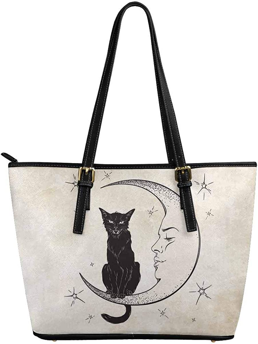 InterestPrint Cute Cats Leather Tote Bags Fort Worth Mall Shoulder Handbags for OFFicial site
