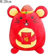 Nesee Plush Toys Plush Interactive Toys Rat Year Mascot Doll Tang Suit Small Mouse Doll New Year Gift Annual Meeting Zodiac Mouse