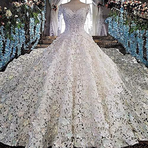 WANGMEILING Vestido de Novia Vestido de Novia de Lujo Vestido de Novia con Cuentas Vestido de Novia...
