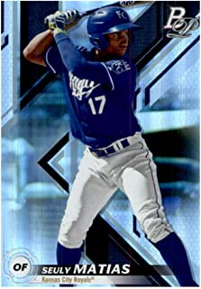 2019 Bowman Platinum Top Prospects Baseball #TOP-12 Seuly Matias Kansas City Royals Official Retail Exclusive Trading Card From Topps