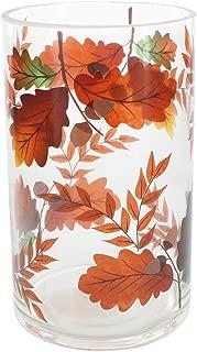 Pavilion Gift Company Harvest Leaves-Jar Holder Candle-Accessories, Orange