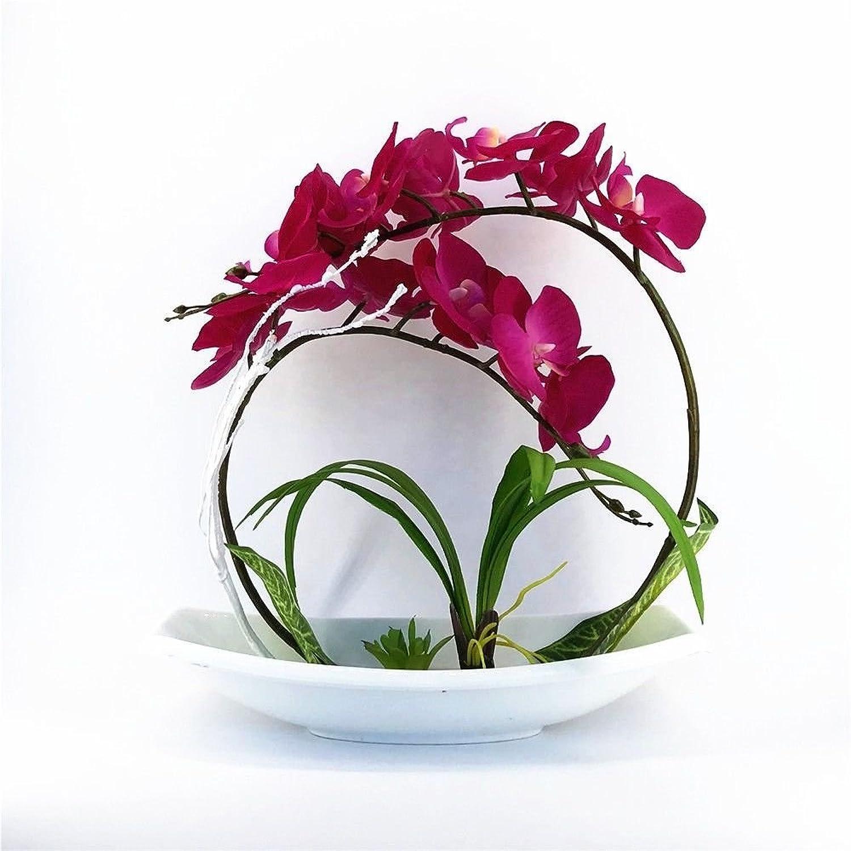 SCLOTHS Orquídea Mariposa Estilo Europeo salón Flores Artificiales Muebles Decoración Establecido púrpura