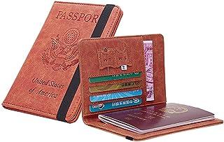 Unisex Multifunction Travel Passport Wallet Fashion Tri-fold Document Organizer Holder