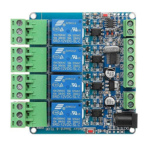 Nologo TIN-YAEN Relay Module, 4 Channel Relay Module Isolation RS485 MCU For Arduino 4CH Input Optocoupler Accessories