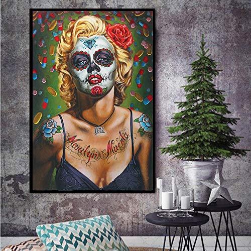 wZUN Citando Pintura de Lienzo para Imprimir el Resumen de decoración del hogar del Artista de la Pared en la Foto de la Pared de la Sala de Estar 60x90 Sin Marco