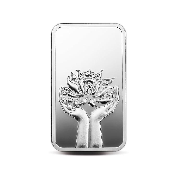 MMTC PAMP India Pvt. Ltd. Lotus Series 999.9 purity 50 gm Silver Bar Girl's Jewellery