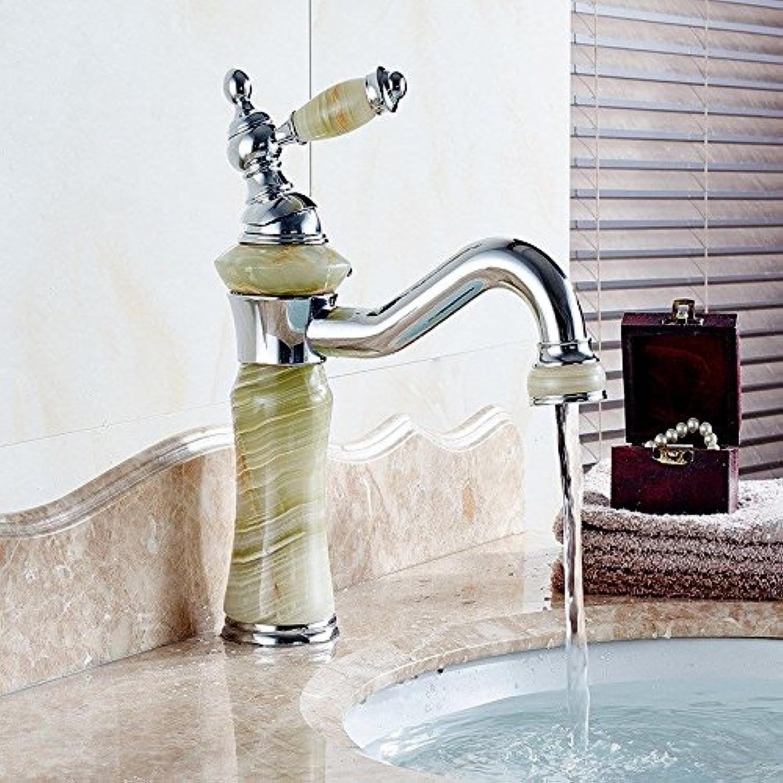 ETERNAL QUALITY Badezimmer Waschbecken Wasserhahn Messing Hahn Waschraum Mischer Mischbatterie Die Jade Antique Gold Waschbecken Armatur Gold Plating tippen Küchenspüle