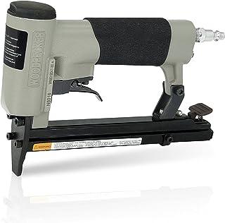 "Woodpecker - N8016 Pneumatic Upholstery Stapler, 21 Gauge, Full Metal, 1/2"" Crown, 1/4"" to 5/8"" Length 80 Staples, Air Pow..."
