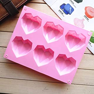 1 Pcs Silicone Fondant Mould Heart Diamond Cake Chocolate Mold Non-toxic Bakeware Form DIY Soap Pastry Tools Kitchen Acces...