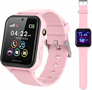 PTHTECHUS Smart Watch for Kids - Boys Girls Smartwatch with 2 Way Phone Calls SOS Games Music MP3 Player HD Selfie Camera ...