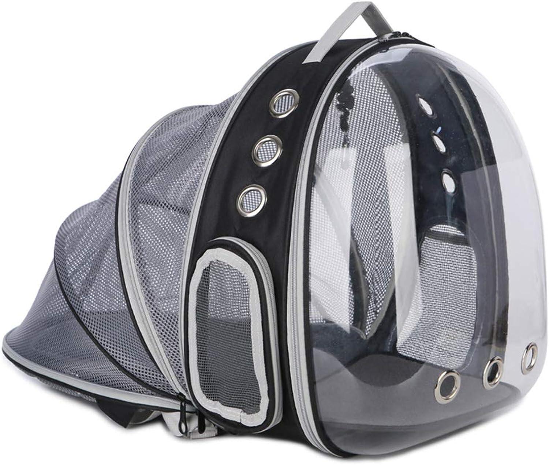 Cat Bag Out Extended Portable Space Bag Transparent Cat Cage Cat Breathable Backpack Detachable 32  28  42cm (color   Black)