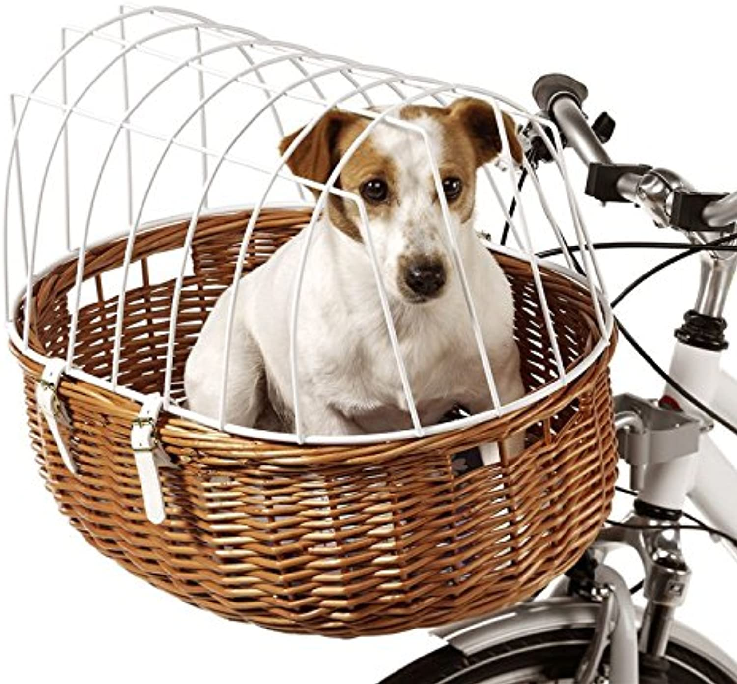 Bicycle Basket For Dogs And Pets Heavy Gauge Wire Guarantee Your Pet's Safety Able to carry up to 12kg 52 x 38 x 39 cm (L x W x H)