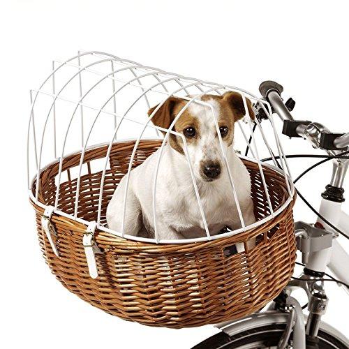 Fahrradkorb Weidenkorb Transportkorb mit Schutzgitter Gr. M für den Lenker