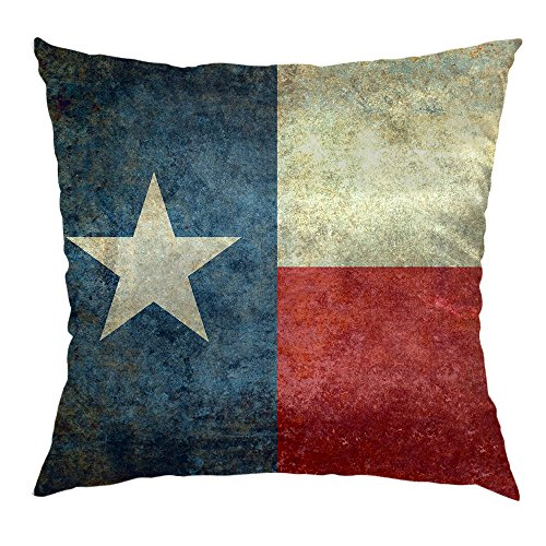 Moslion Flag Pillow Decorative Throw Pillow Cover American Flag Lone Star Satin Square Cushion Cover Standard Pillow Cases for Men Women Boys Girls Home Sofa Bedroom Livingroom 18