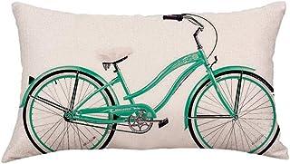 Fossrn Funda Cojin 30 x 50 Moderno Geometría Bicicleta