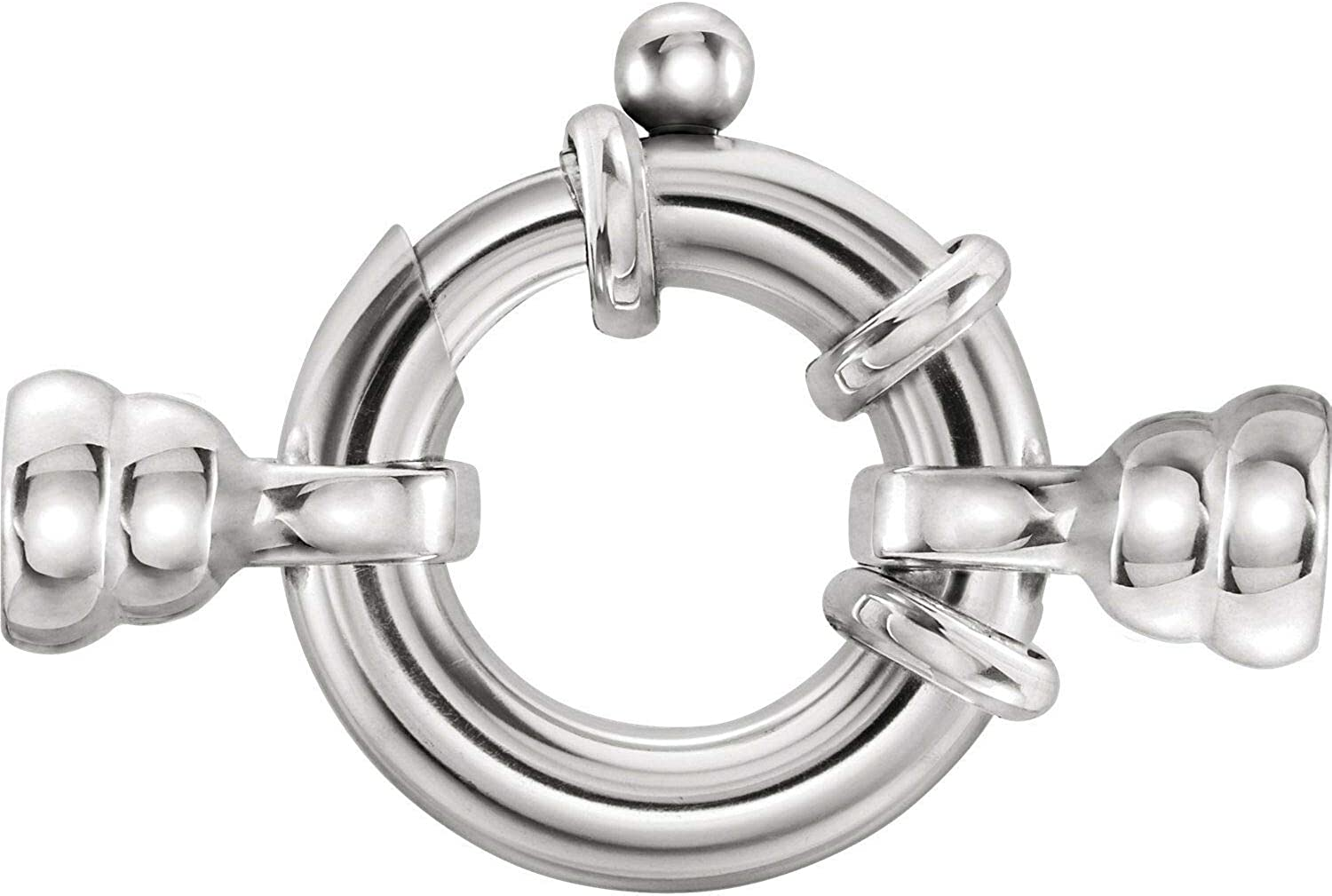 Sterling Silver Jumbo Spring Ring w Cups Stringi Tie Special price for a limited time Cheap sale Bead Bars