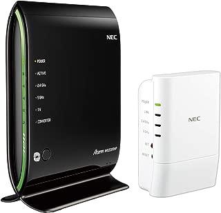 【Amazon.co.jp 限定】NEC Wi-Fi 無線LANルーター Aterm WG2200HP・中継機 Aterm W1200EX セット(ペアリング済み)