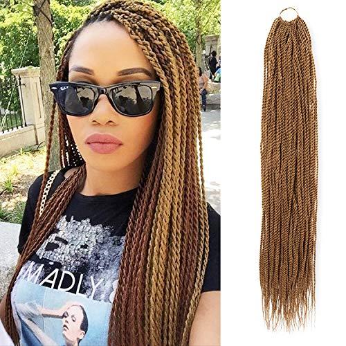 6 Packs 32 Inch AU-THEN-TIC Senegalese Twist Crochet Braids Hair Small Havana Mambo Twist Crochet Hair Pre-Stretched Pre Looped Soft Braiding Hair Extensions (32 Inch (Pack of 6), 27)
